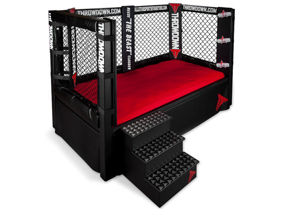 (via Throwdown MMA Cage Bed Sports Themed Furniture by Allstarsports)