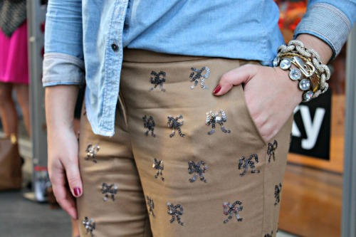 Bows & Sequins Pants