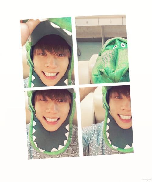Jonghyun has officially turned into a dinosaur.