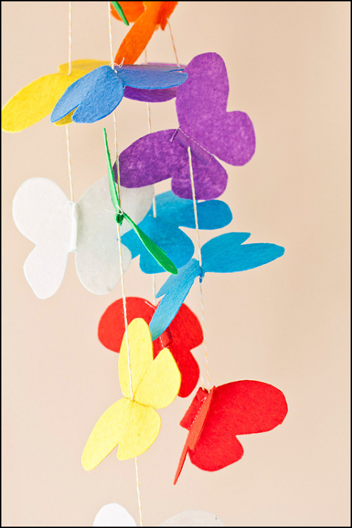 My latest Etsy project, a Butterfly Mobile! I am yet to hang it from a wooden frame, so it will be more spaced out once completed :)
