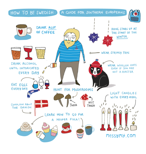 eatsleepdraw:  How to be Swedish - A guide for Southern Europeans