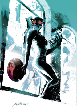 Catwoman sketch by Rafael Albuquerque. November, 2011.