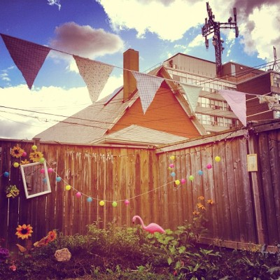 Love my #bunting from the #uk hanging in my #garden. Special thanks to @haymehay ;)  (Taken with Instagram at Secret Garden)