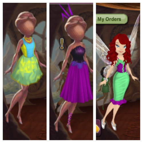 So I started playing disney fairies fashion boutique 2 days ago and I cannot stop. I love it so much. And my mannequins are Disney-bounding as flounder and Ursula and I'm Disney bounding as Ariel and its perfect!!