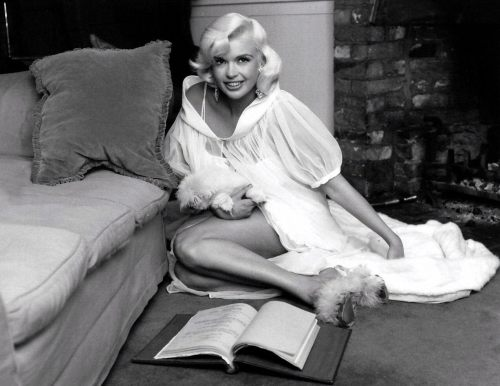 1961: Jayne at The Pink Palace.