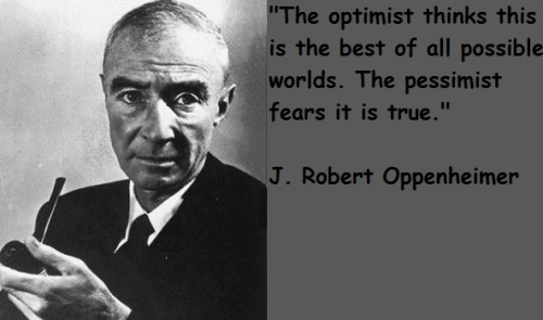 No fears allowed … focus on optimistic view.