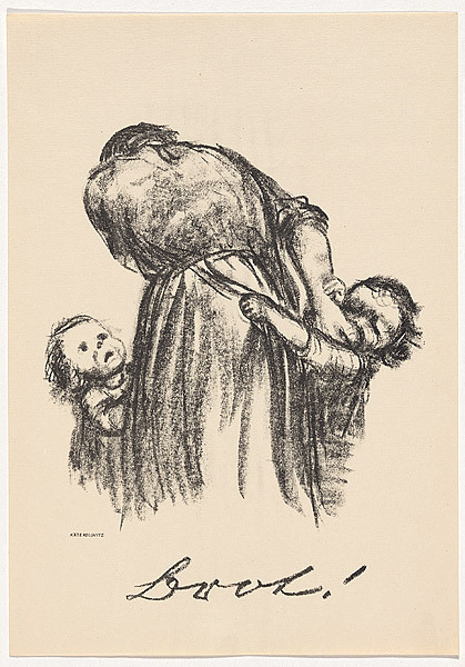 icropailarepartsada:  Brot! 1924 Käthe Kollwitz  This is one of my favorite prints. Once again, its so simple, but so hard to look at it.