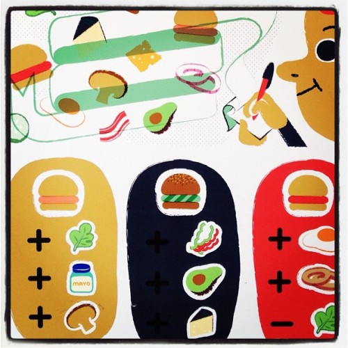 Hamburguesas BCN. #bcn #barcelona #igersbcn #illustration #hamburger #burger #art  (Taken with Instagram)