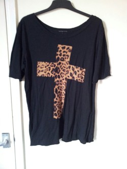Urband Outfitters cross tee. Size L, will fit 12/14 and possibly 16. Top - £3