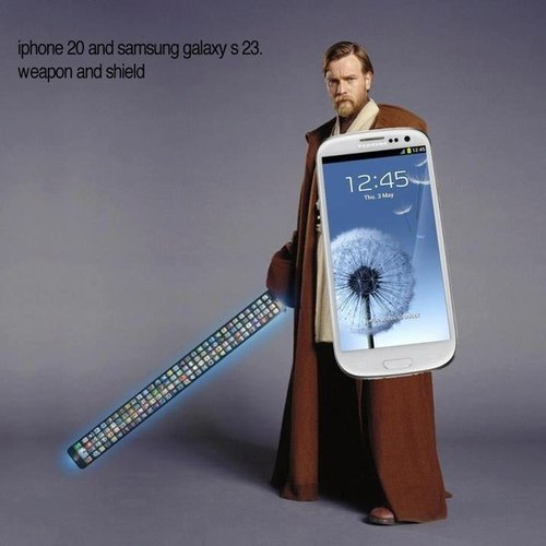 ortigaygatet:  iPhone 20 vs Samsung Galaxy S23. En un futuro no muy lejano…