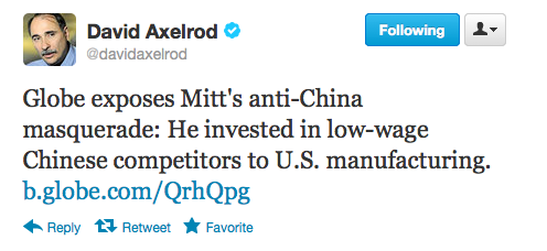 liberalsarecool:  Romney rips Obama on China despite investments.