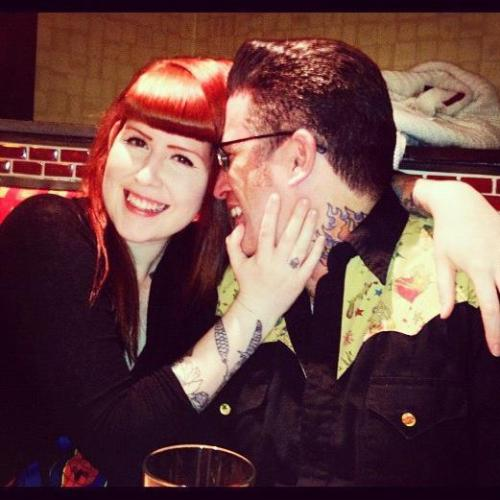 rockabillycouples:  Me and my gal Mel out for after-work drinks on a Friday night!   This is me and Mel and we are the ones who run this blog! wwe just wanted to say HI!!