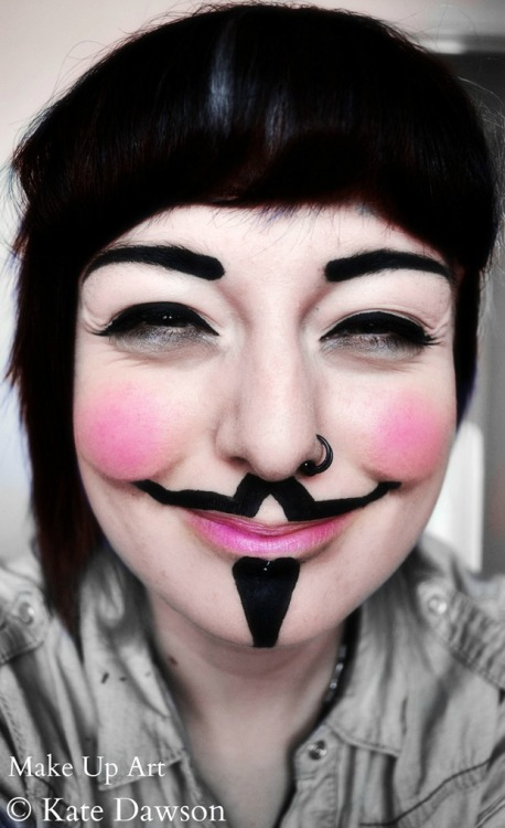 Guy Fawkes make-up