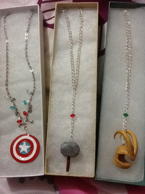 loikisthenewloki:  Necklaces my friend ordered from me :D  Handmade from polymer clay; the beads add a nice touch.
