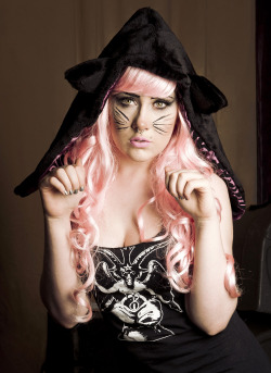 Kitty cat hood photo i got back from the shoot for Ferox clothing, Ferox do lots of animal inspired, cruelty free clothing check them out on etsy!