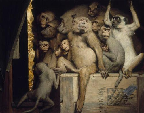 """Monkeys as Judges of Art"" by Gabriel Cornelius Ritter von Max, 1889"