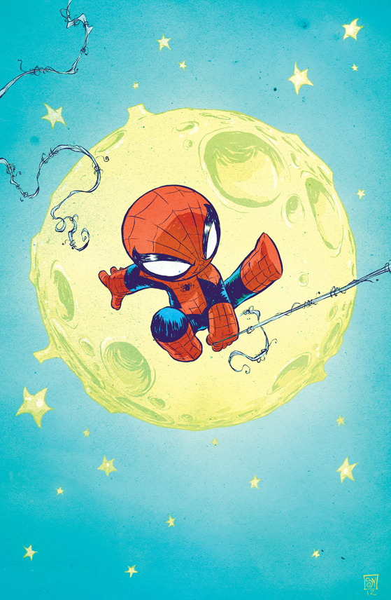 toxicadams:  Spider-Man - baby variant by Skottie Young
