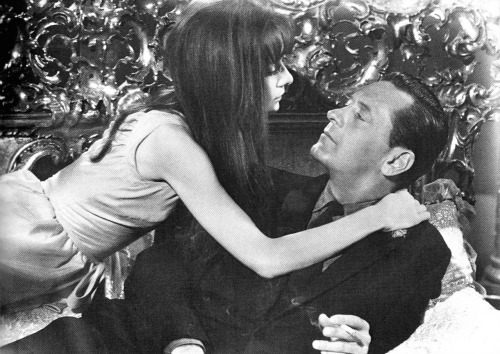 "Audrey Hepburn and William Holden in ""Paris-When it Sizzles"",Studios de Boulogne 1964."