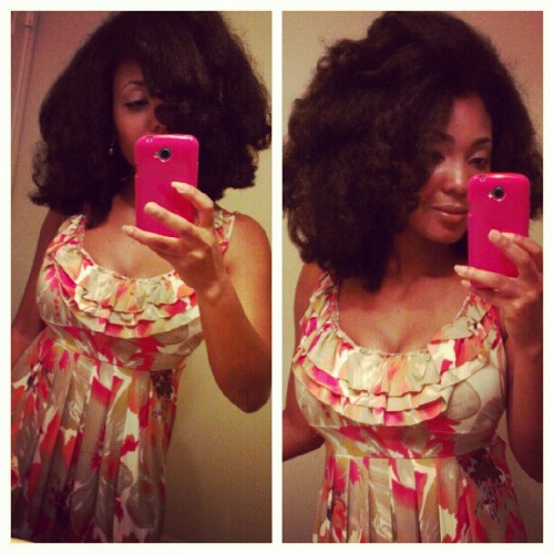Results: Flexi rod set with light press :) #naturalhair  (Taken with Instagram)