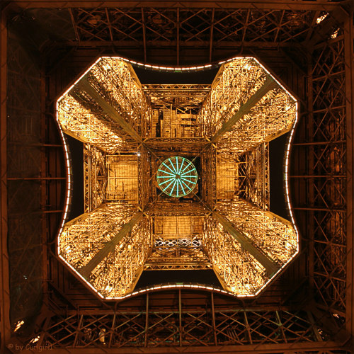 The Eiffel Tower, from the ground up