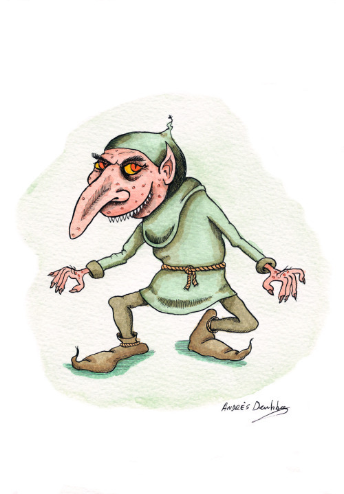 R is for Rumpelstiltskin My Alphabooks entry for this week is Rumpelstiltskin, the antagonist of a fairy tale originated in Germany, collected by the Brothers Grimm, who published it in the 1812 edition of Children's and Household Tales