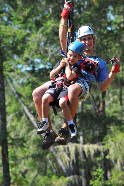 We have kids as young as 5 years old come out zip-lining. If they can do it, so can you!