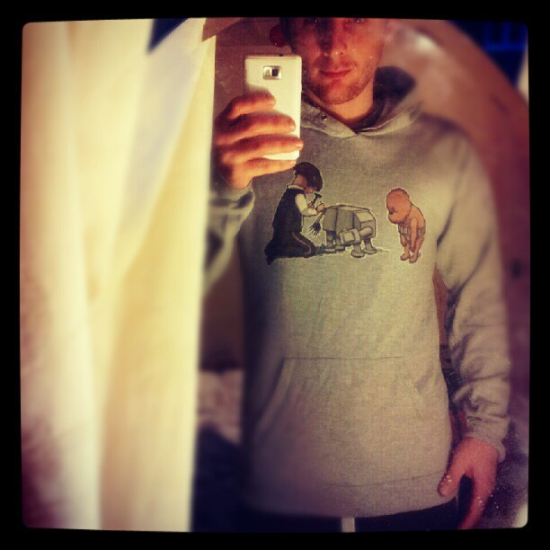 Wearing my favourite hoodie today. Wookie The Chew artwork by James Hance :) (Taken with Instagram)