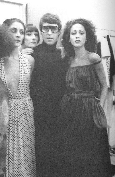 christopherniquet:  halston and pat cleveland  halston and pat cleveland