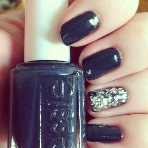 """Bobbing for Baubles"" and ""Set in Stone"" by #essie #notd #nails #nailpolish  (Taken with Instagram)"