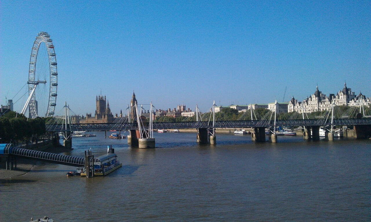 London, on a sunny day