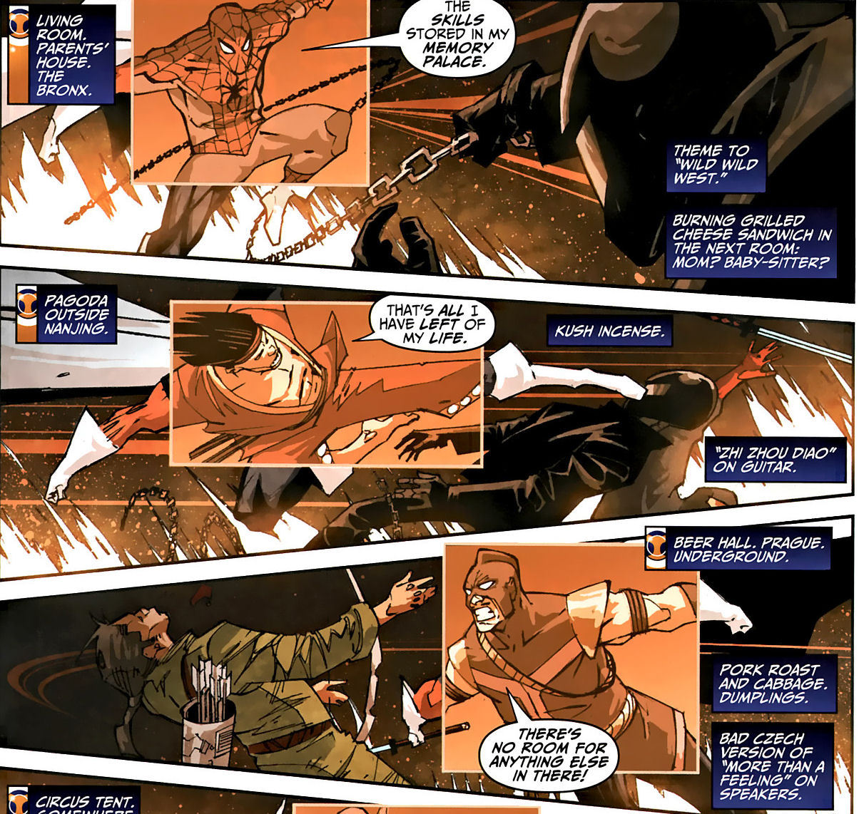 towritecomicsonherarms:  I like this in the taskmaster comics it's a nice gimmick