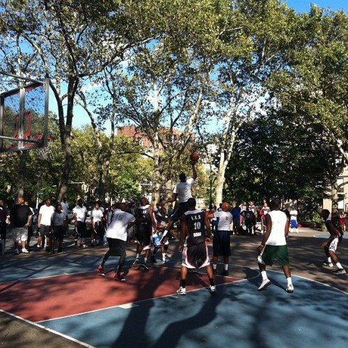 Championship game on Houston st (Taken with Instagram)