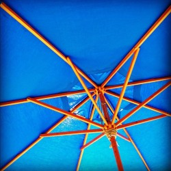 #brunch #umbrella #blue #nyc #astoria #queens (Taken with Instagram)