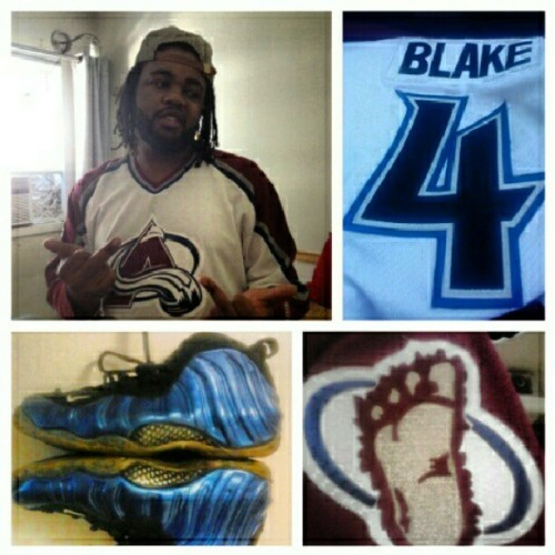 Colorado #Avalanche jersey w/ da Penny Blue #Foamposites, I'm da 1st to do it… (Taken with Instagram)