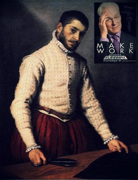 Painting: Giovanni Battista Moroni, The Tailor, 1570 Ad: Project Runway (Lifetime)