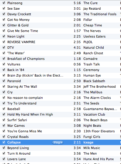 Here is my playlist so far for my radio show.  Tune in from 4 till 8pm central today!! Tune in.