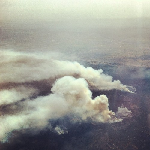 Just flew over these wildfires in Eastern Washington. (Taken with Instagram at Up In The Air)