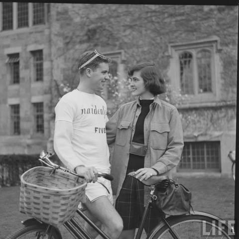 (via School Spirited: The Vassar-Yale Bike Race, 1952)