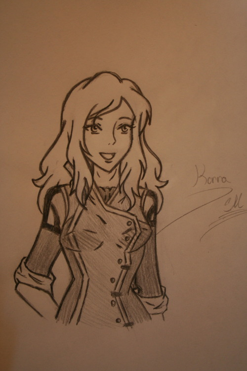 "Korra in a new outfit at republic city.. my design.. o0"" It's blueeeee Lol."