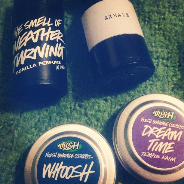daveyxvx:  Treated myself to some exclusive Lush goodies! To note the perfume is only available in 10 shops and online, the temple balms I have only seen in Leeds however they might be in other spa shops!