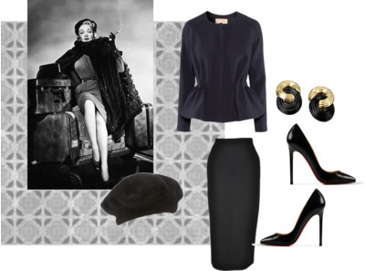 style icon marlene deitrich by rookieicon featuring a black knee length skirt