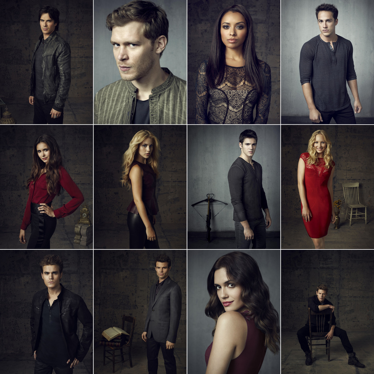 The Vampire Diaries season 4 cast portraits EVERYONE KISS!