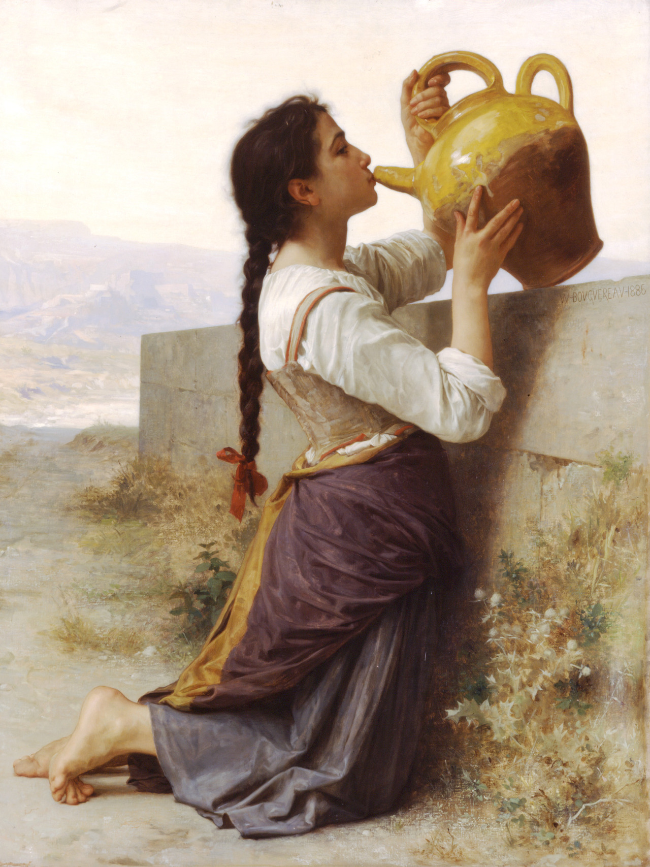 velvetthunder:  Thirst - Aldophe William Bouguereau, 1886