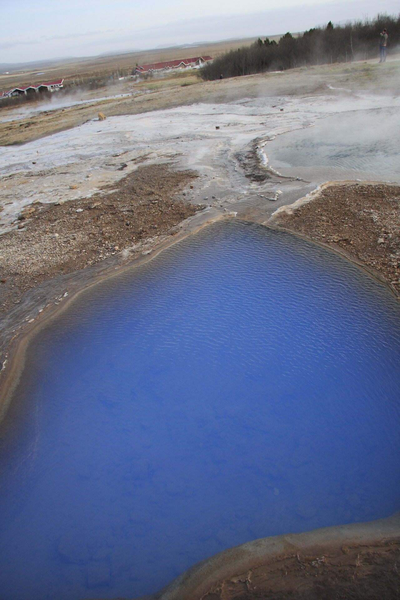 A very blue lake in Iceland