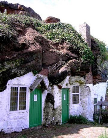 themagicfarawayttree:  British Rock Houses - preserved by the National Trust, the last rock house dwellers moved out in the 1950s.