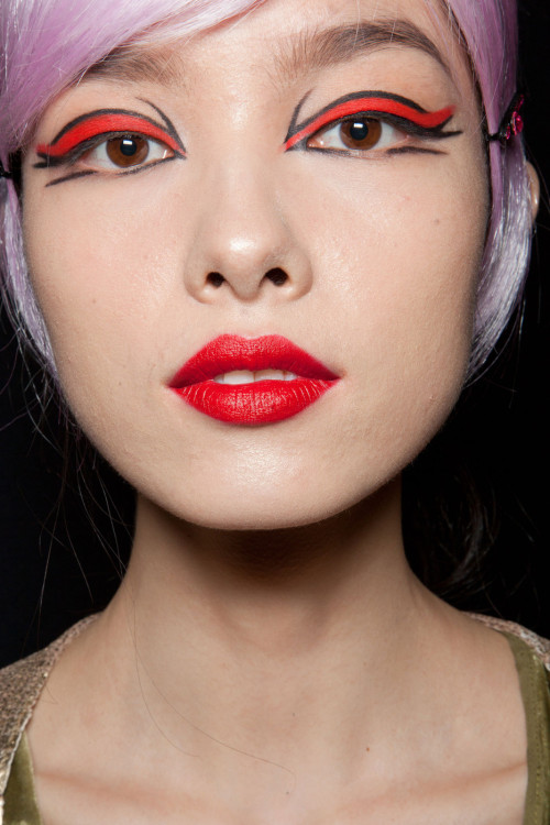 Make up look from Anna Sui S/S 2013