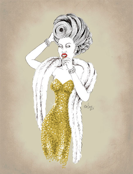 Art,Blog,Drawing,Fashion,Fur,Glamorous,Hair,Sequins,Illustration,