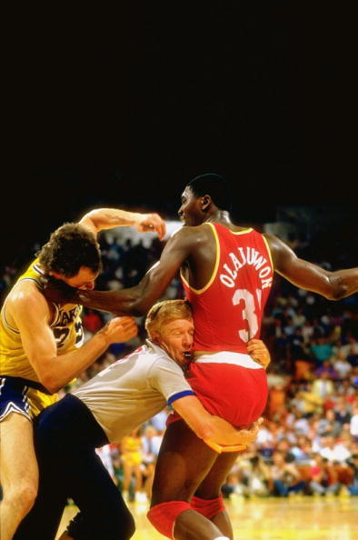 "Hakeem ""The Dream"" had a beauty baseline jumper… But his left hook was always the most dangerous."