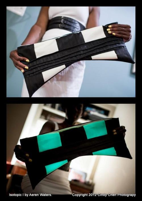 "The ""Isotopic I"" clutch created by Aeren Waters uses one of our glow-in-the-dark zippers!"