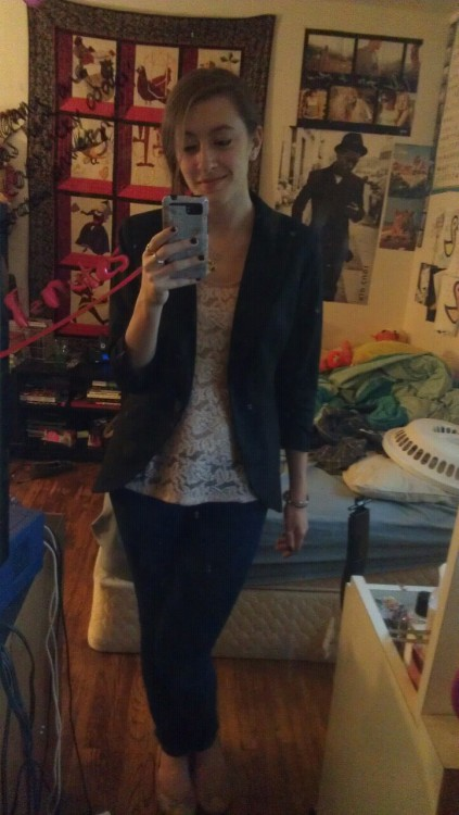 New blazer and a cute top to go with it c: